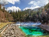 Jiuzhaigou Five-Color Pool in Dry Season
